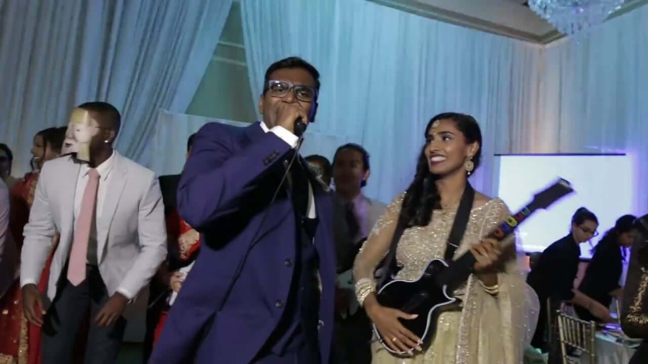 Tamil Couple Does Epic One Take Music Video at Wedding